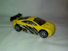 2003 Hot Wheels Asphalt Assault w/10 Spoke Wheels yellow black Diecast Toy Car