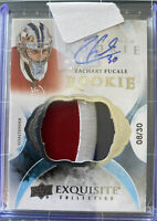 15-16 UD The Cup Exquisite #83 Zachary Fucale Rookie Patch Auto 08 /30