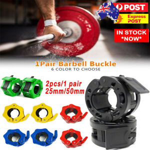 Weight Lifting Bar Collars Home Gym Standard 25mm Barbell Lock Clamp Collar AU