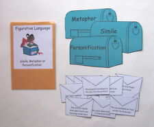 Teacher Made Literacy Center Educational Resource Game Figurative Language
