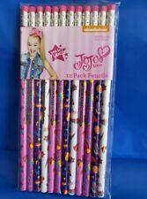 JoJo Siwa 12 PACK Pencils Bow Hearts School Supplies Stationery Set New Dozen