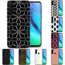 TPU Phone Case for Motorola G Stylus,G7 Play,Power,Plus,Pattern Flower Print