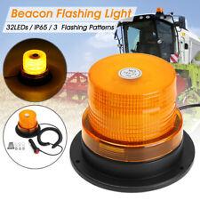 32 LED MAGNETICO LAMPEGGIANTE ROTANTE A INNESTO 12/24V OMOLOGATO TRATTORE CAMION