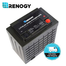 Renogy Lithium Iron Phosphate Battery 12 Volt 100Ah for Solar Panels