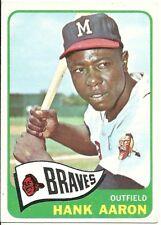 1965 Topps #170 Hank Aaron Braves HOF NR-MT Sharp Super Color & Gloss Set Break