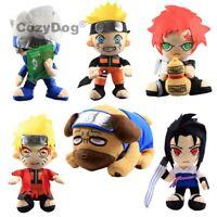 30cm Naruto Plush Toys Uchiha Sasuke Hatake Kakashi Gaara Pakkun Dog Soft Dolls