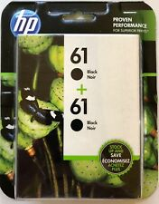 NEW HP 61 BLACK TWIN PACK 2 ORIGINAL INK CARTRIDGES IN RETAIL BOX FREE SHIPPING