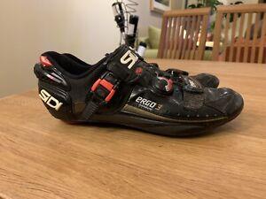 Sidi Ergo3 Carbon Cycling Shoes SPD Black Size UK10