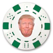 3 Donald Trump Funny Expression Custom Green Poker Chips Novelty Item