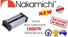 Nakamichi NGTD1 1000W Peak, Mono Block D Class, 1 Channel Car AMP Mini Amplifier