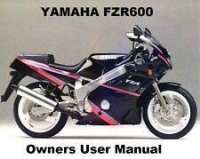 YAMAHA FZR600 - Owners User Handbook Manual PDF on CD-R for FZR 600 GENESIS