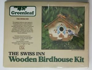 Greenleaf The Swiss Inn  Wooden Birdhouse Kit Sealed 1980 Build Your Own Craft
