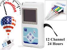 TLC5000 Dynamic 12-Channel ECG Recorder Holter ekg machine FDA CE US Seller