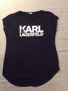 Karl Lagerfeld Shirt Tshirt Gr. S / 36 schwarz Weiß wie neu!!