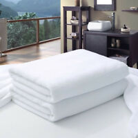 Large Hotel Bath Towel White Cotton Luxury Adult SPA Sauna Beauty Salon 70 x 140