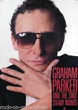 Graham Parker & The Shot 1985 Steady Nerves Original Promo Poster