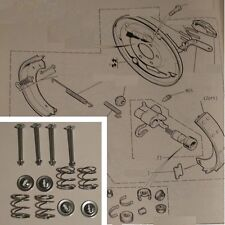 FORD Escort Mk1 Mexico RS1600 Twin Cam 9 inch BRAKE SHOES SHOE FITTING KIT