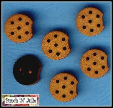 CHOCOLATE CHIP COOKIE - Biscuit Baking Bake Bakery Sweet Novelty Craft Buttons