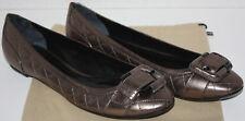 NWOB Womens BURBERRY Dark Metallic Flats Shoes Size 10