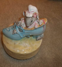 1978 Beatrix Potter The Old Woman Who Live In A Shoe Music box