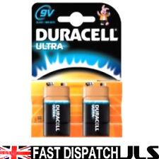 2 DURACELL 9V Ultra M3 Alkaline PP3 MN1604 Batteries