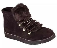 Skechers Bobs Boots Alpine Faux Fur •Brown• Women's Size 8