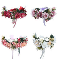Beauty Garland Flower Crown Wreath Floral Bridal Hairband Headband Party Wedding