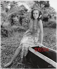 "DOLORES DEL RIO Older Restrike Photo 1932 ""BIRD OF PARADISE"" Sexy Hula Gal Still"