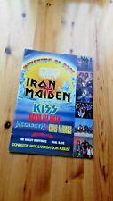 Iron Maiden Original Vintage Programme Monsters of Rock +Ticket
