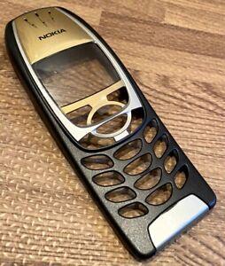 Original Genuine Nokia 6310i Front Cover Fascia + Clip - Grade A - Black & Gold