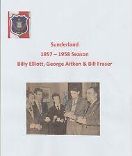 ELLIOTT, AITKEN & FRASER SUNDERLAND RARE ORIGINAL HAND SIGNED NEWSPAPER CUTTING