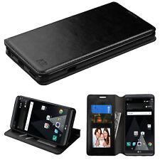 FOR LG V20 BLACK LEATHER WALLET FLIP CASE PHONE HYBRID CARD SLOT COVER