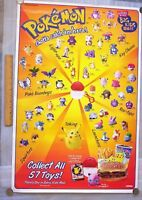 Lot of 4 Vintage 1999 Burger King Pokemon Promotion Posters Very Rare Find