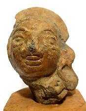 TETE DE JEUNE FEMME - INDE 100 BC SHUNGA DYNASTY - RARE TERRACOTTA HEAD - INDIA