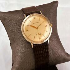 676 Swiss - Men Wrist Watch Runs 1960 Hamilton Thinline 14K Solid Gold 17J Cal