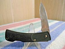 VINTAGE SCHRADE+ USA SP3 COMBINATION BLADE LOCKBACK POCKET KNIFE