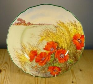 Royal Doulton D6312 Poppies in a Cornfield Plate
