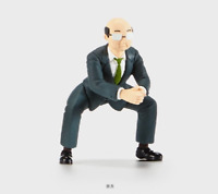 B89 Takara Kan-Cho Panda's ana Mascot Figure JP Bald Section Manager With Suit