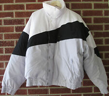 Vintage 80s 90s Jordache Down Jacket Size Extra Large XL Puffy Puffer White Grey