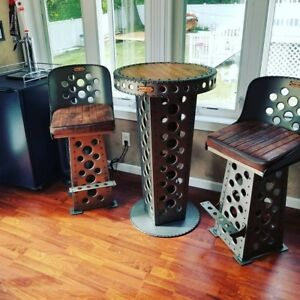 Iron Ace Man Cave Pub Table and Bar Stool(s) Man Cave Furniture2