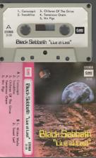 Black Sabbath Live At Last cassette K7 tape Label GMI
