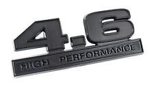 """Ford Mustang Matte Black 4.6 High Performance Fender Emblem Badge 5"""" x 1.75"""""""