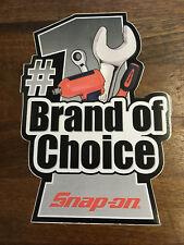 Snap-On Tools Tool Box Sticker Decal Genuine #1 Brand of Choice
