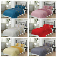 AmigoZone Luxury Silk Pleated Non iron Duvet Cover Set with Pillow Cases