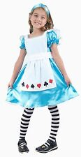 Girls Child Kids Alice in Wonderland Fancy Dress Costume Fairy Princess Age 2-9 Large 6-9 Years