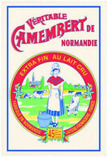 French Kitchen Dish/Tea Towel Normandie Cheese 100% Cotton  Made In France