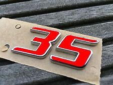 Golf 6 VI GTI Edition 35 Sticker Rot Aufkleber Emblem Schriftzug
