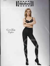 WOLFORD COLLANT CECILIA TIGHTS - COULEUR BLACK / WHITE - TAILLE M - 100% NEUF