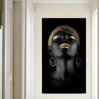 Wall Art Living Room Abstract Figure Waterproof Ink Black Women Home Decoration