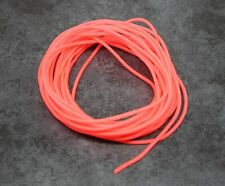 Red Tube 5m, 1mm Internal Diameter, Fluorescent Non Glow Tubing, Bream Whiting